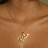 The Golden Swift Double Plated Name Necklace