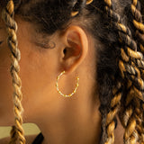 Barbed Wire Huggy Hoop Earrings