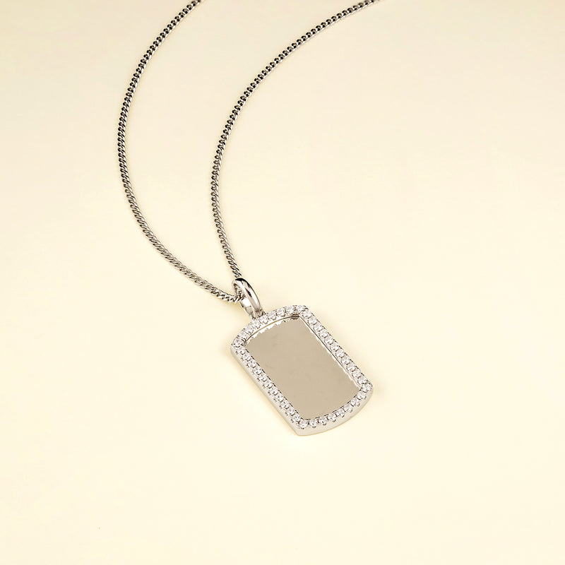 The Iced Border Dog Tag