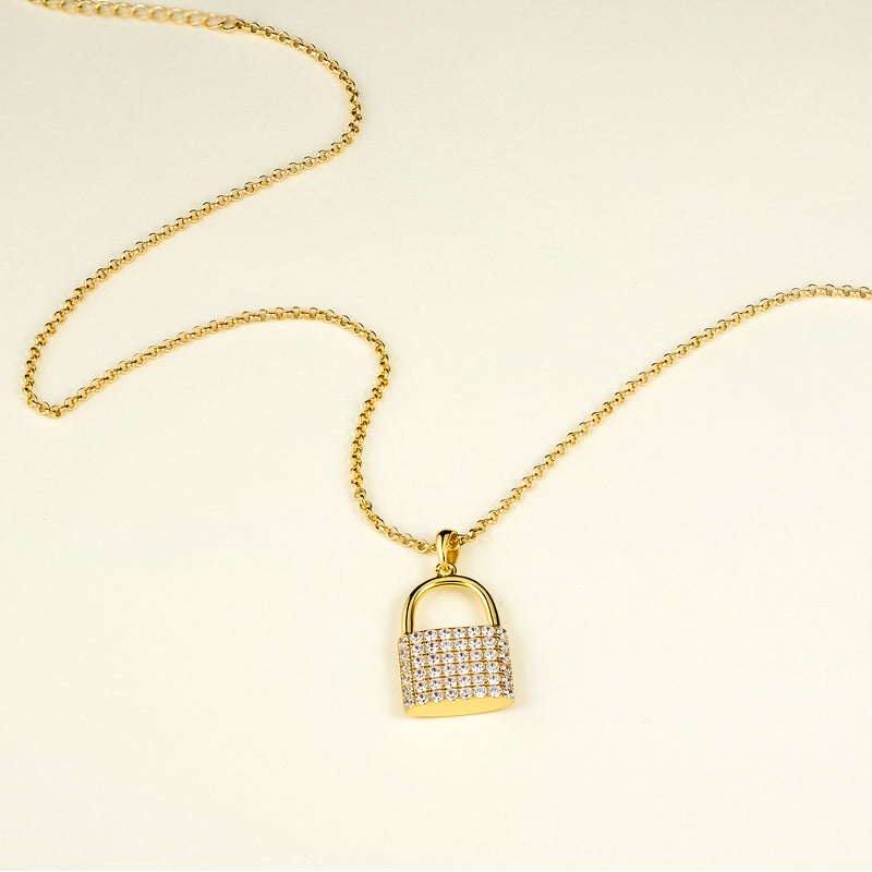 The Iced Lock Pendant
