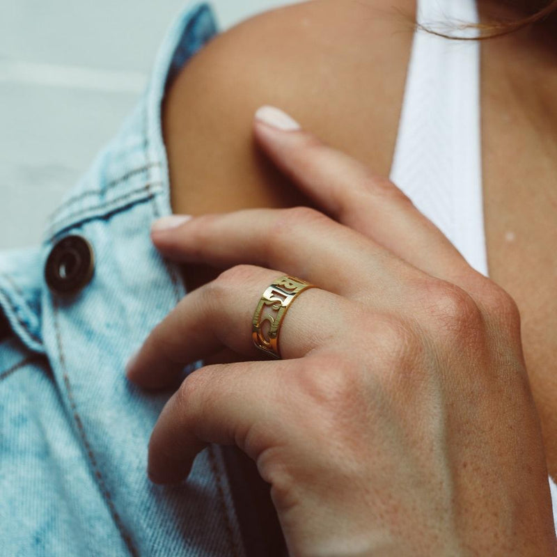 Cut Out Love Ring - 14K