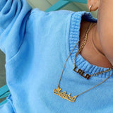 Kids Diamond Cut Name Necklace - 14K
