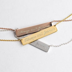 Engraved Jewelry - Engraved Bar Necklace