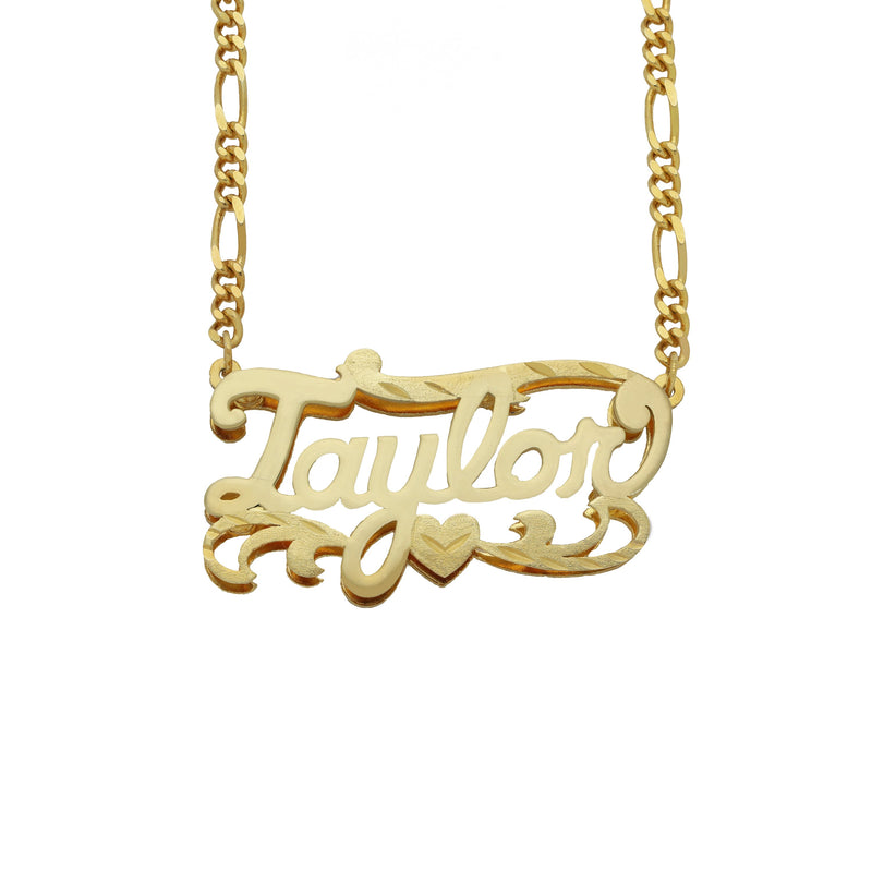 Name Necklace - Double Plated Name Necklace - 14K