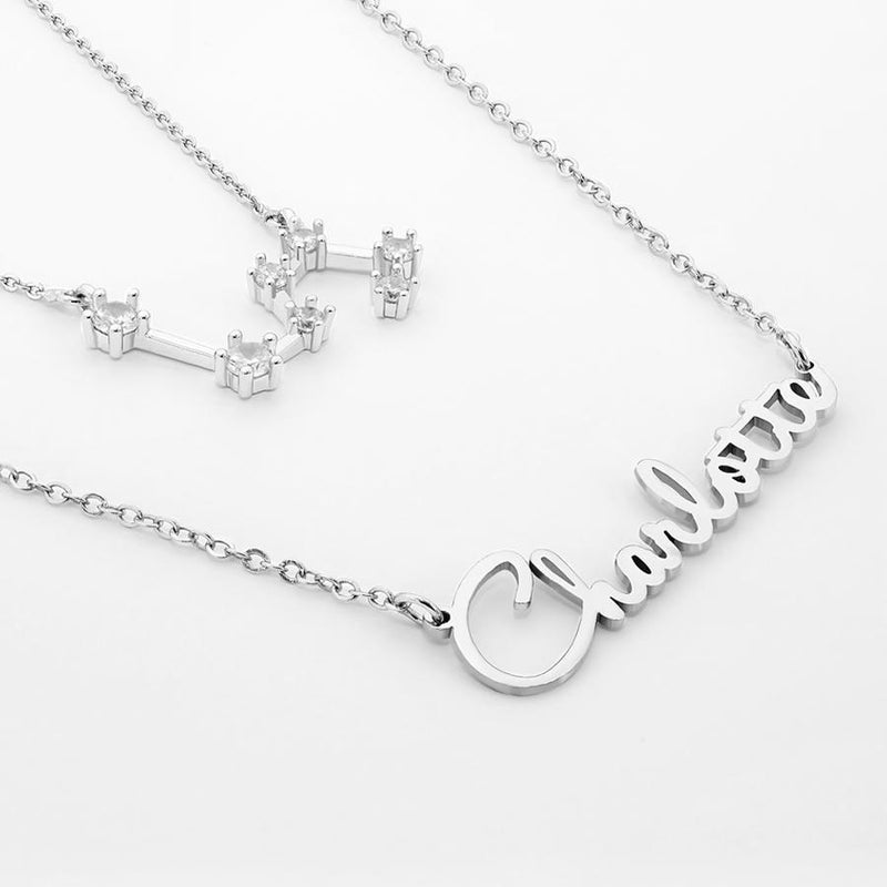 Name Necklace - My Zodiac Name Necklace