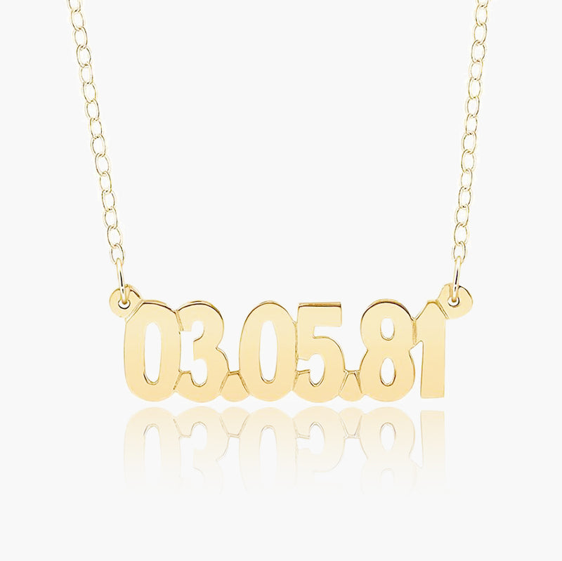 Name Necklace - Special Memory Date Necklace