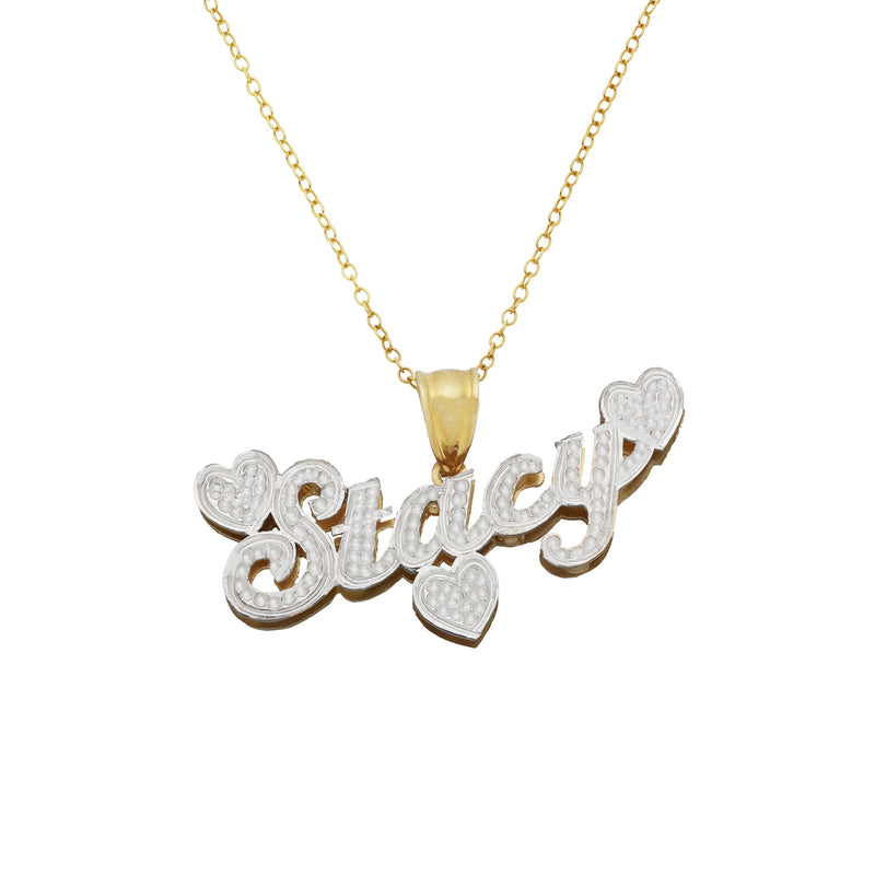 Name Necklace - The Lovely Double Plated Name Necklace - 14K