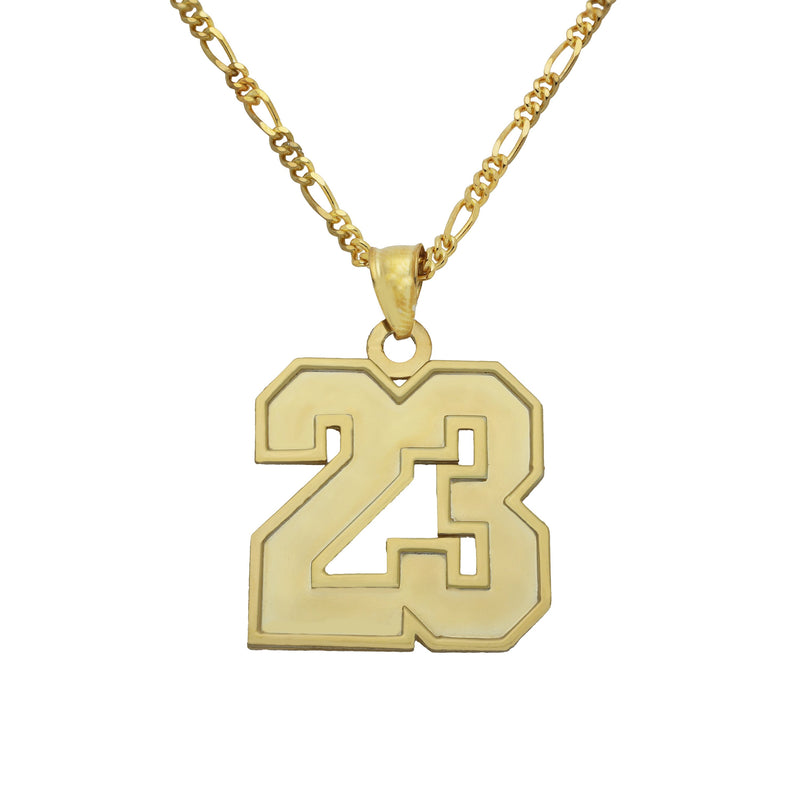 Name Necklace - Varsity Number Necklace - 14K