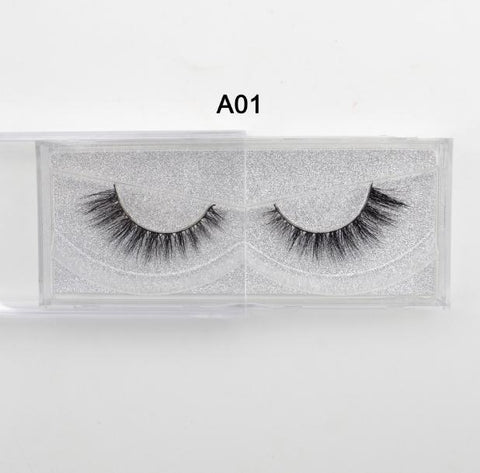 100% Hand Made Reusable 3D Mink Eyelashes (Natural) (1 Pair)