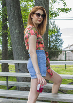 Dahlia High Waisted Denim Shorts
