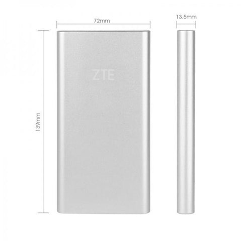 Original ZTE Heysroad 10000mAh Dual USB Argent Sorties Mobile Power Bank - omar.ma