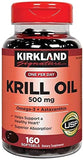 Kirkland Signature Expect Molre Krill Oil 500 mg, 160 Softgels