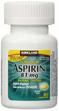 Kirkland Low Dose Aspirin 81 Milligram 365 Enteric Coated Tablets