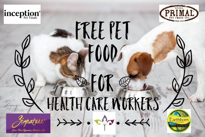 Free Pet Food for Healthcare Workers