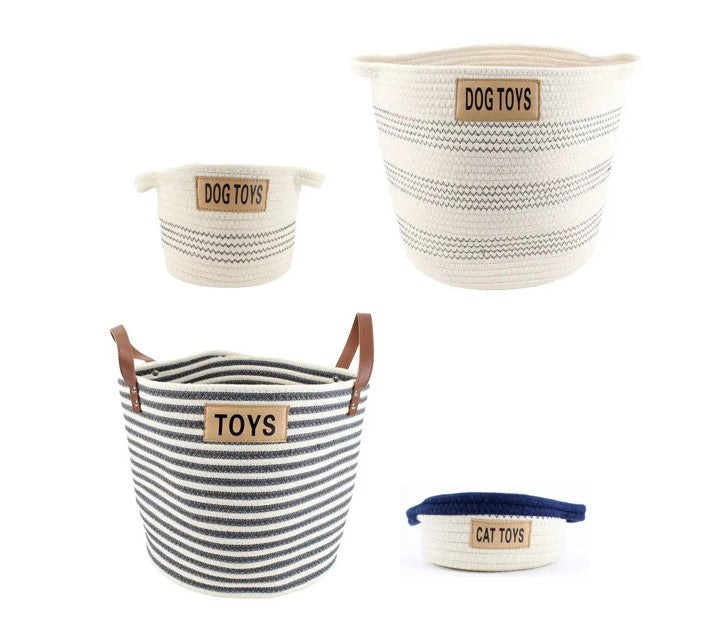 Midlee Designs Cotton Rope Basket