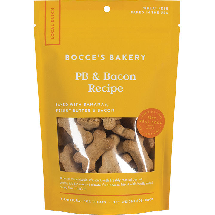 Bocce's Bakery Bacon & Peanut Butter Biscuits
