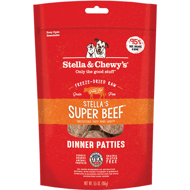 Stella & Chewy's Freeze Dried Patties Super Beef