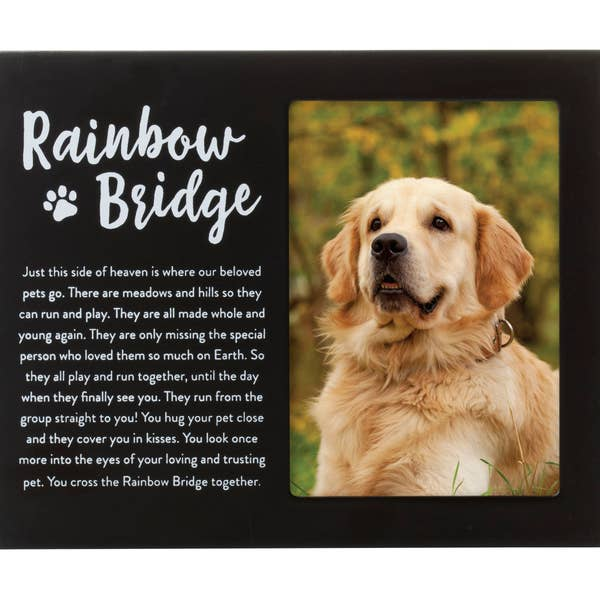 Pearhead Rainbow Bridge Pet Memorial Frame