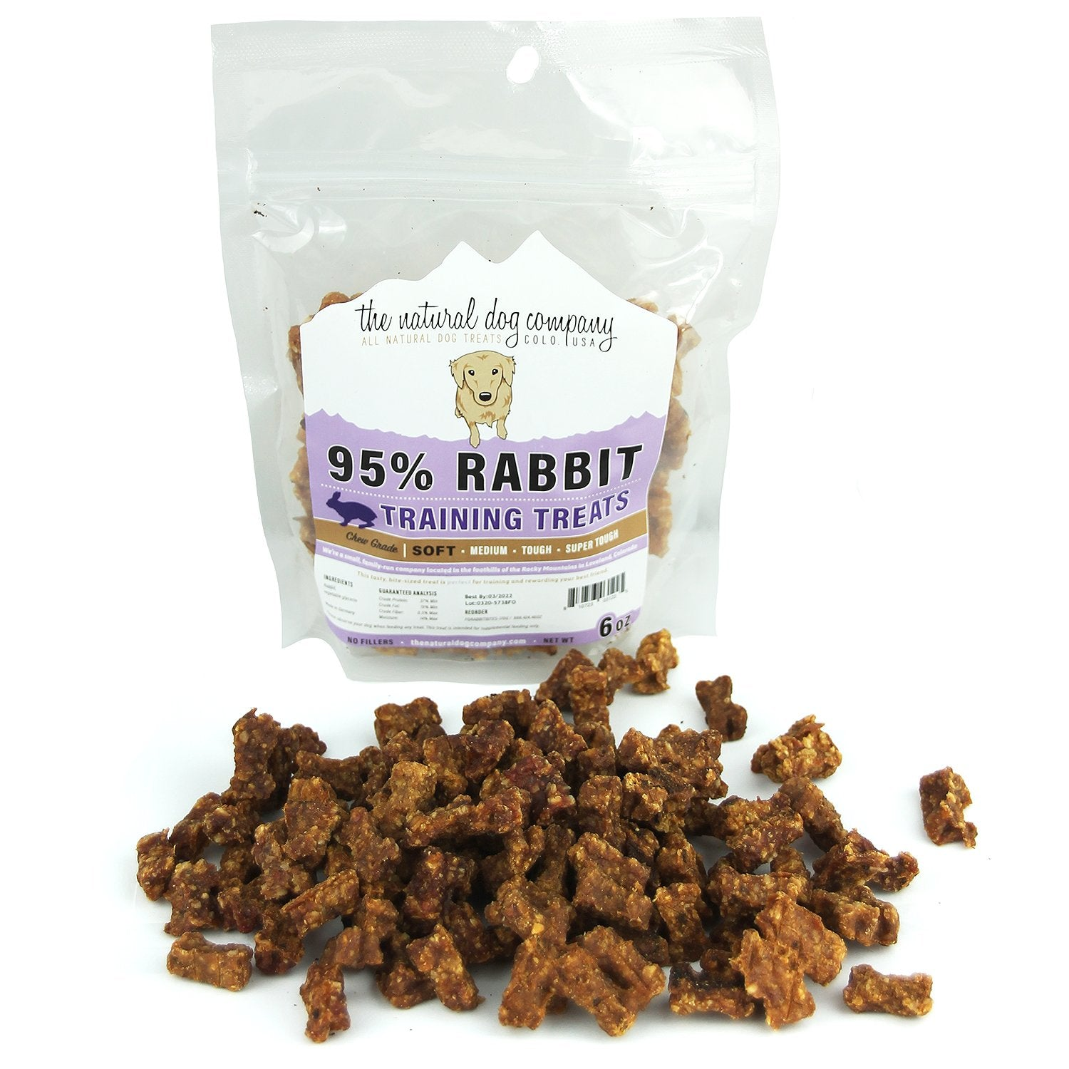 The Natural Dog Company Rabbit Bites