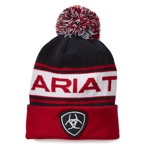 Ariat Team Beanie Navy/Red