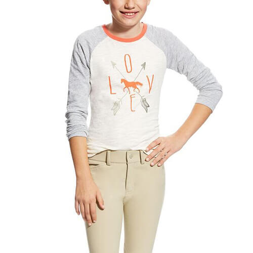 Ariat Girl's Cupid Tee, White