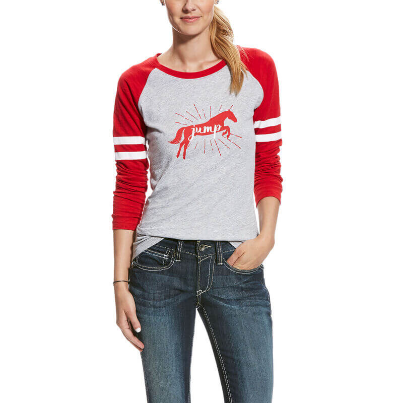 Ariat Women's Jump Tee- Heather Gray
