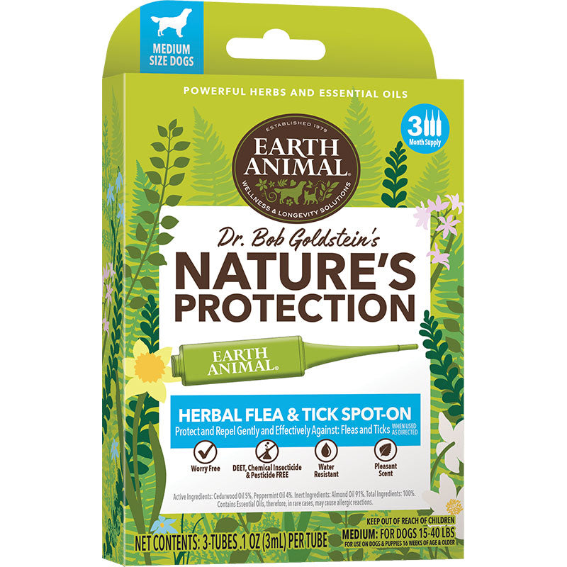 Earth Animal Nature's Protection Spot on Flea & Tick Treatment