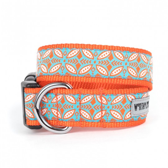 Worthy Dog Stamp Print Collar