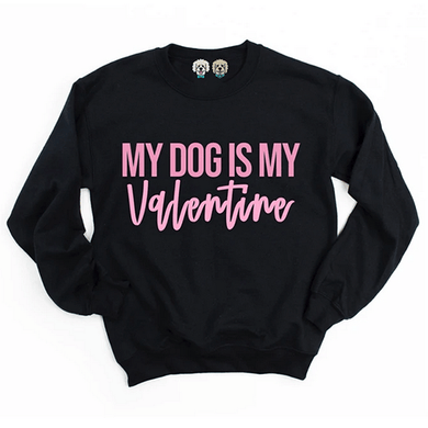 Dapper Dexter My Dog is my Valentine Crewneck