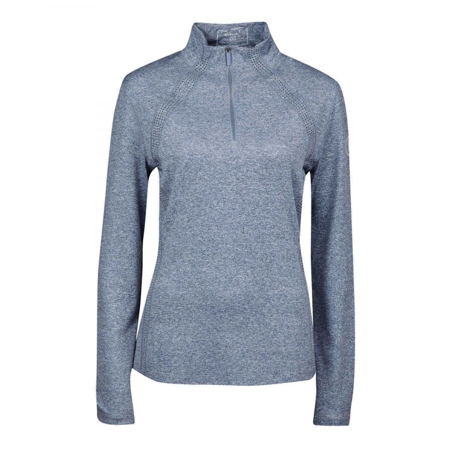 Dublin Maddison Long-Sleeve Technical Airflow 1/4 Zip Top Gunmetal Melange