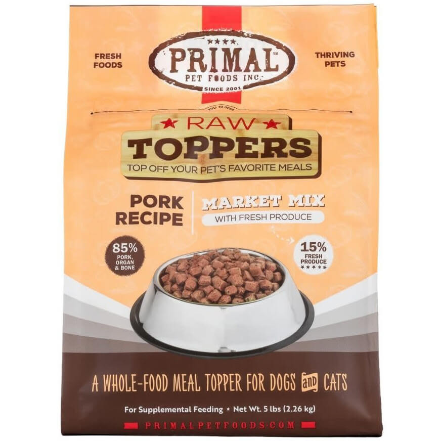 Primal Market Mix Raw Toppers Pork