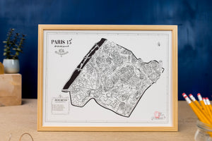 Affiche des arrondissements de Paris