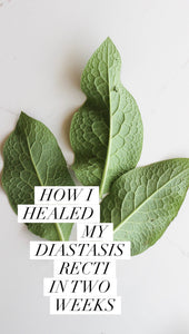 How I healed my Diastasis Recti
