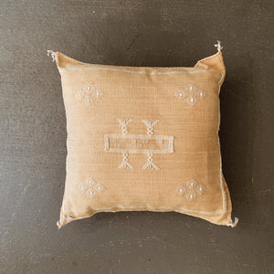 Golden Cactus Silk Cushion