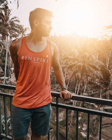 live more bali rice terrace #inspire tank shirt