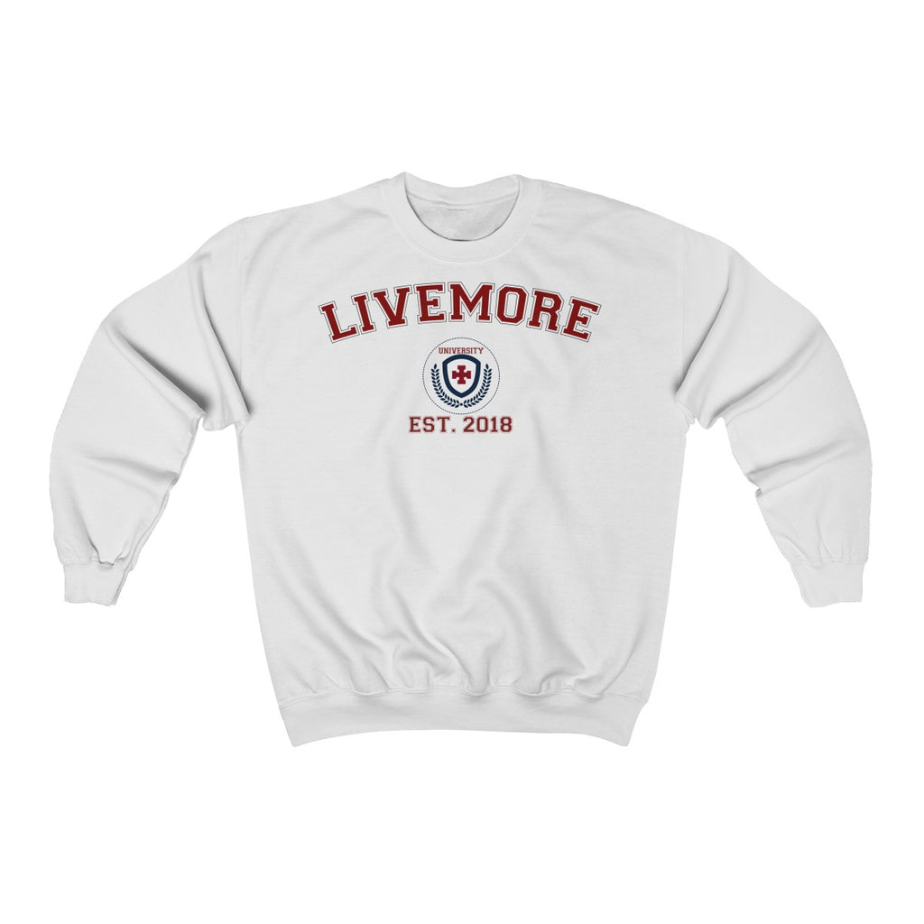 Live More University Unisex Heavy Blend™ Crewneck Sweatshirt - Live More