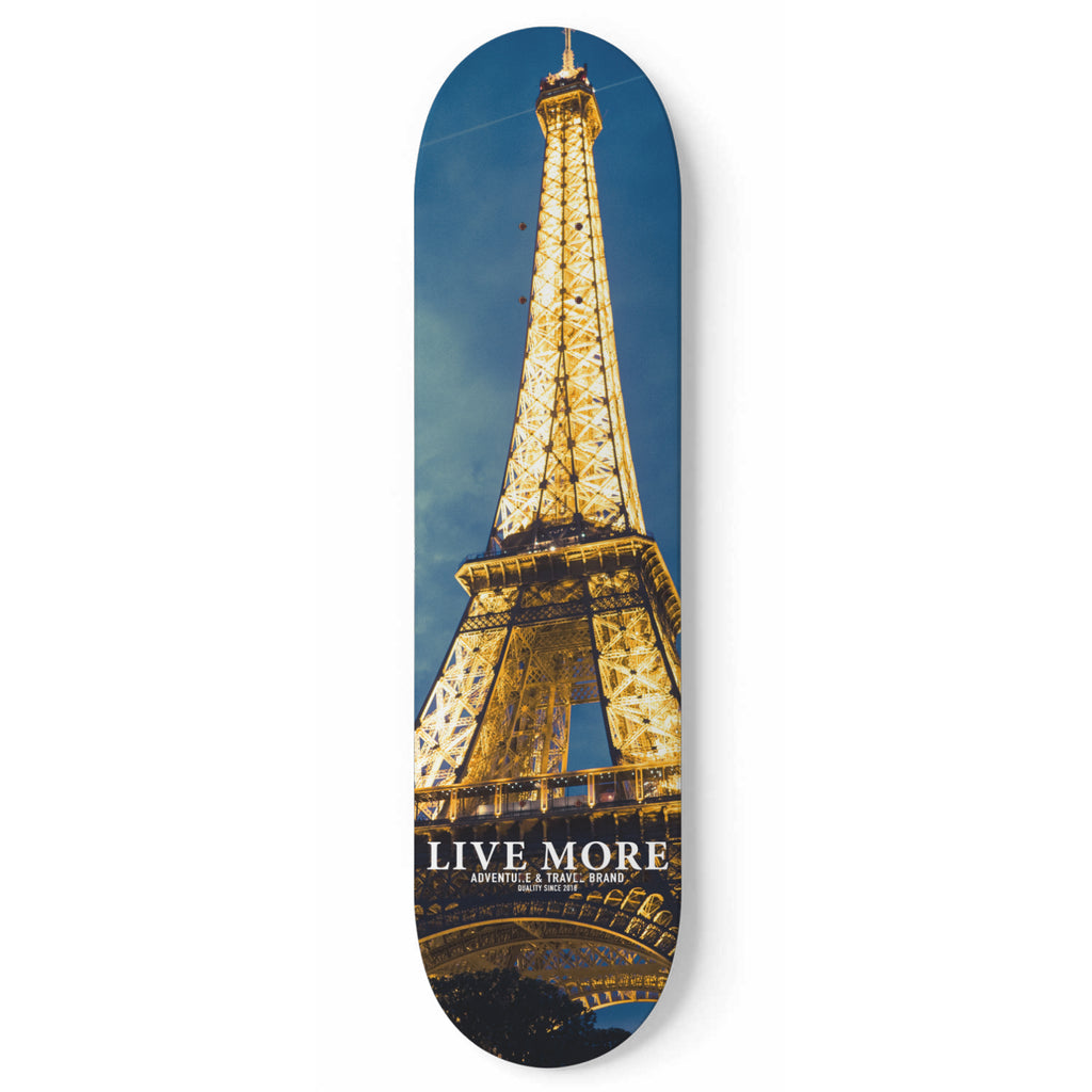 Eiffel Tower Skateboard Wall Art - Live More