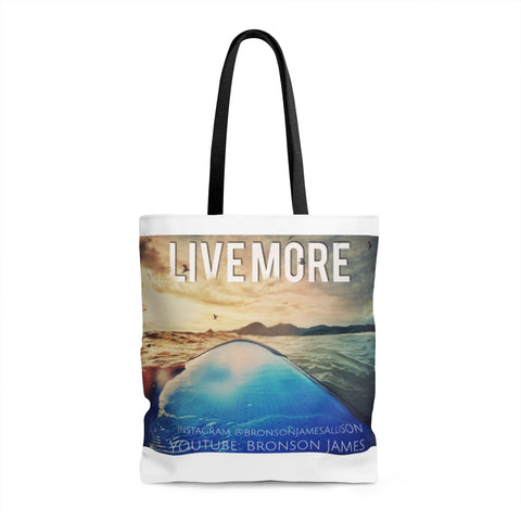 Live More Bali Surf AOP Tote Bag