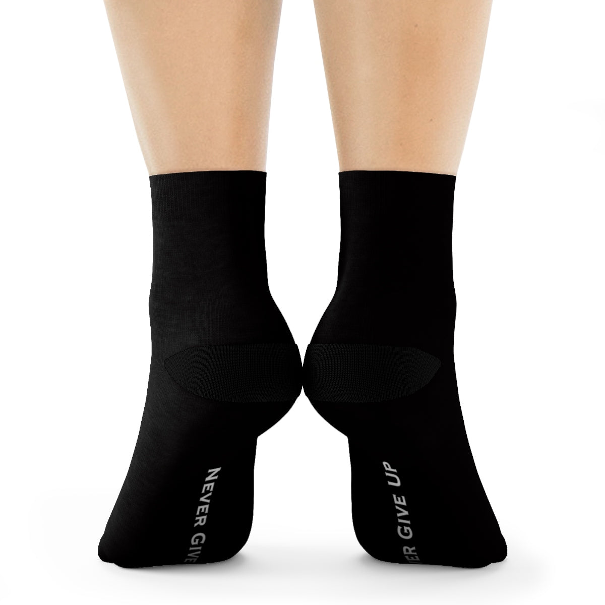 Never Give Up Live More Crew Socks - Live More
