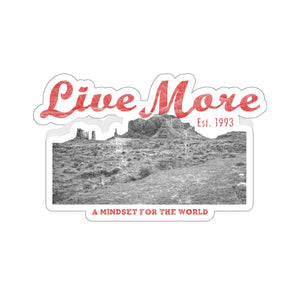 Live More Mindset For The World Sticker