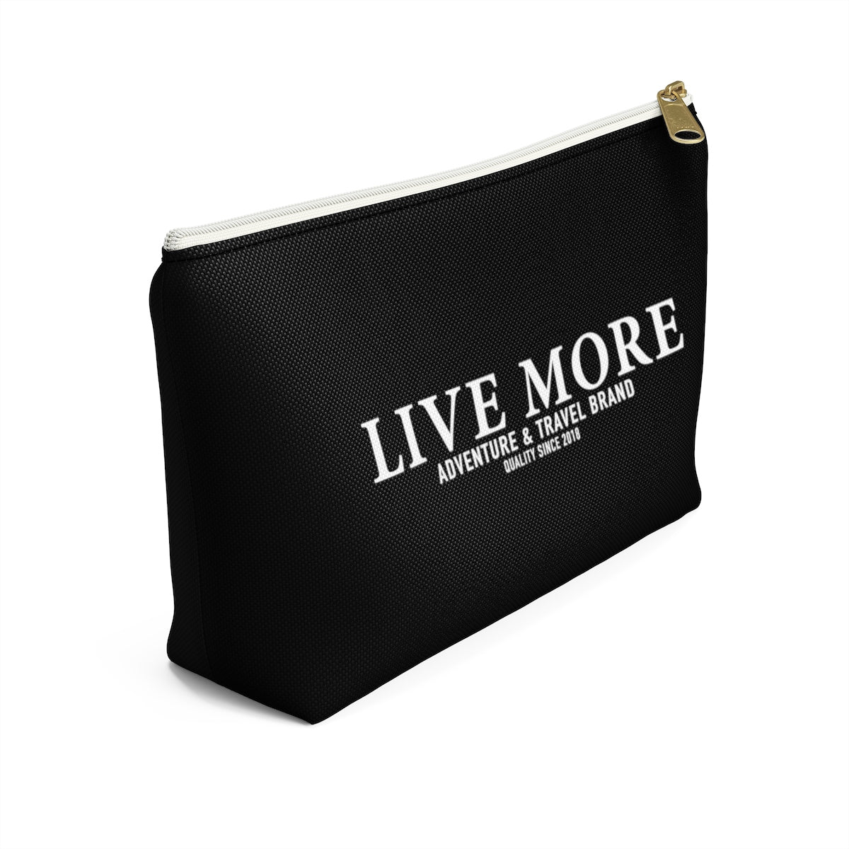 Black Live More Accessory Pouch - Live More