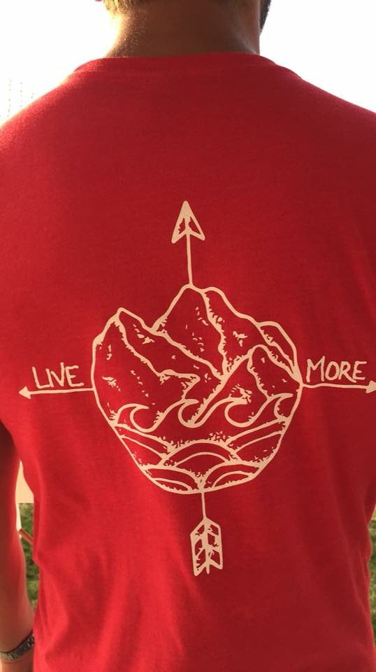 Live More Compass Shirt (Red) - Live More