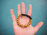 Stone Lava Wood Beaded Healing Bracelet
