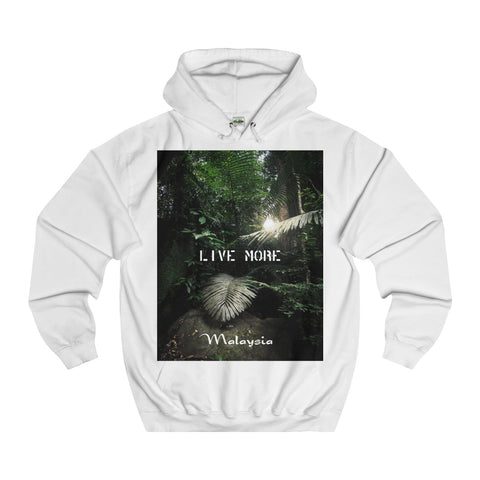 Live More Malaysia Jungle Unisex College Hoodie