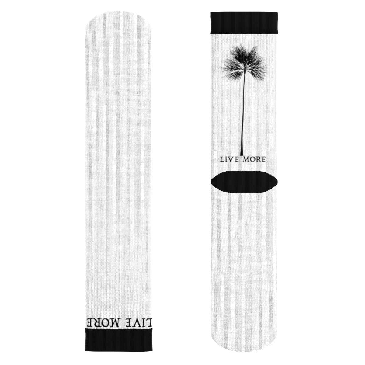 Live More Palm Tree Socks - Live More