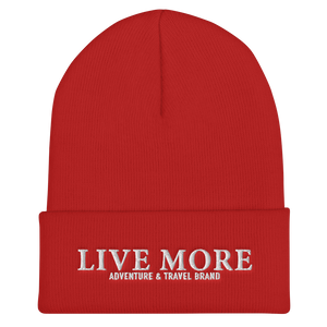 Live More Embroidered Cuffed Beanie
