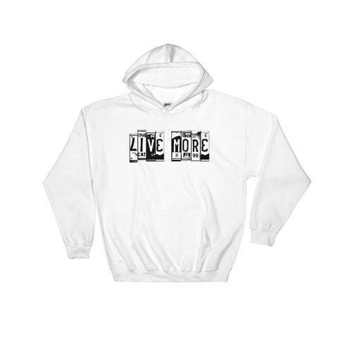 Live More License Plates Hooded Sweatshirt - Live More