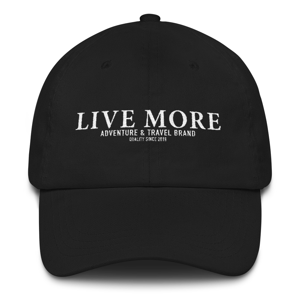Live More Adventure Brand Embroidered Hat - Live More
