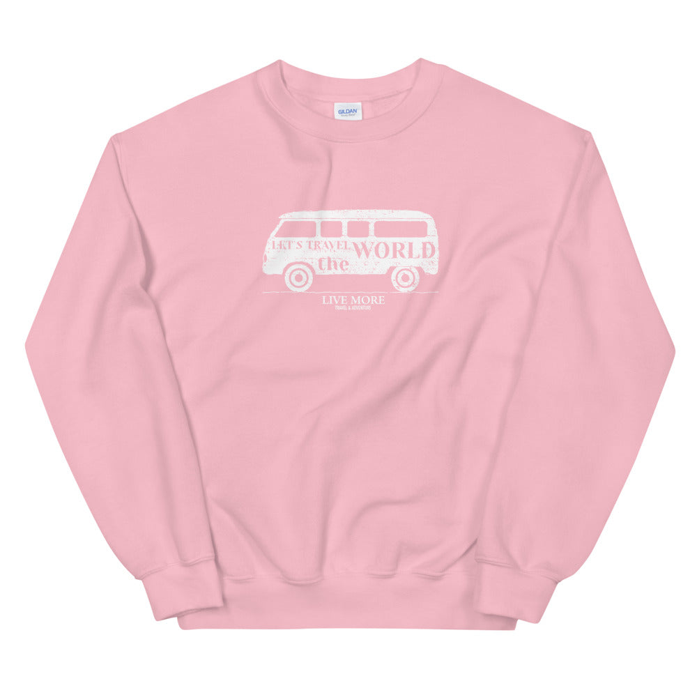 Live More Travel The World Van Unisex Sweatshirt - Live More