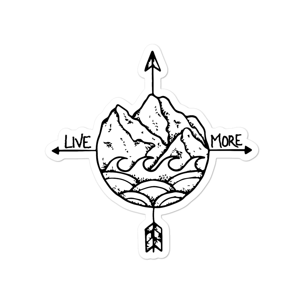 Live More Logo Sticker